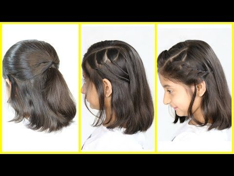 10 Easy Hairstyles For Short Hair Quick And Simple Hairstyles For School Youtube Short Hair Styles Easy Easy Hairstyles Medium Hair Styles