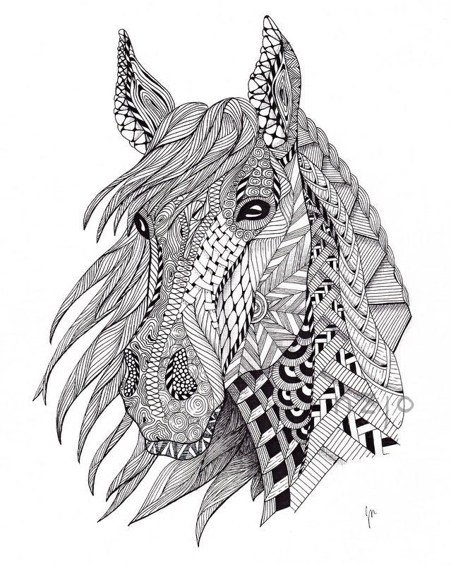 zentangle horse - Google Search | Art | Pinterest | Mandalas, Cosas ...