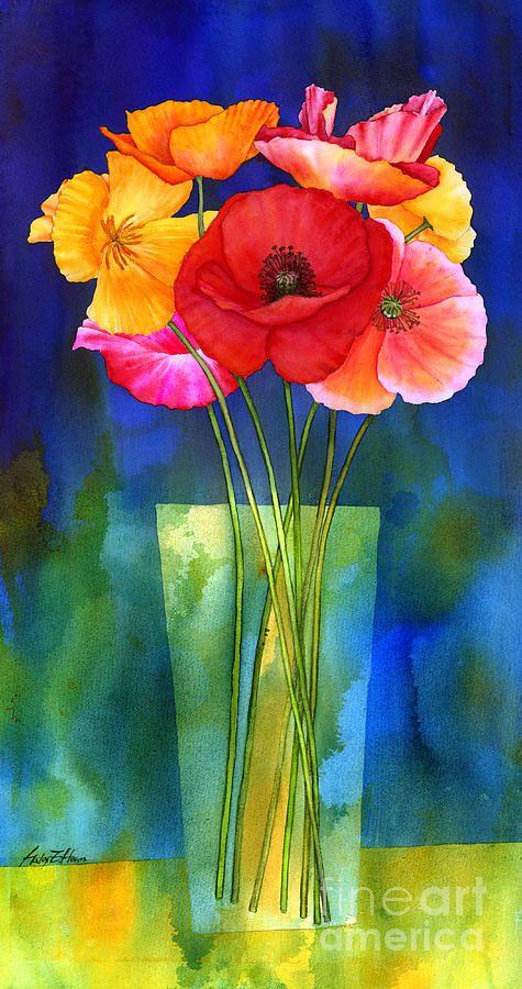 Poppies In Vase Blumen Malen Wie Man Blumen Malt Mohn Malerei