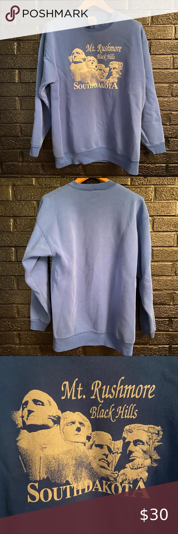 Vintage Mount Rushmore South Dakota Sweatshirt Xl Sweatshirts Sweatshirt Tops Sweatshirts Hoodie [ 1740 x 580 Pixel ]