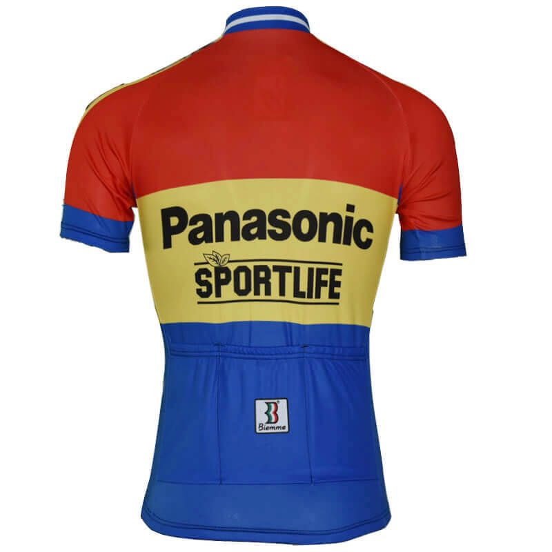 Retro Team Panasonic Sportlife Cycling Jersey Freestylecycling