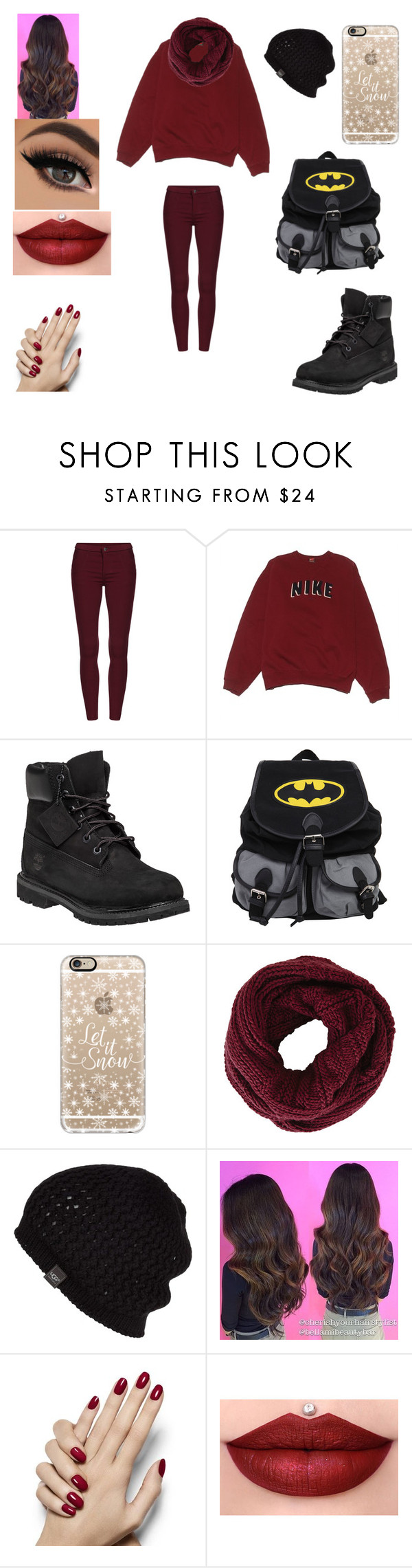 """""""Warm outfit"""" by marceline-vampirequeen ❤ liked on Polyvore featuring NIKE, Timberland, Casetify, BCBGMAXAZRIA, UGG Australia, women's clothing, women, female, woman and misses"""