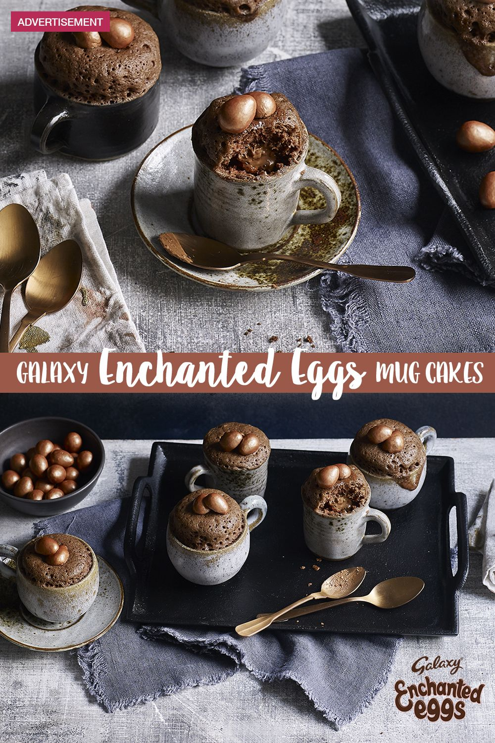 Galaxy Enchanted Eggs chocolate mug cakes | Recipe in 2020 ...