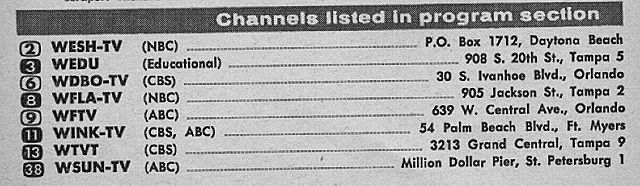 Central Florida Edition April 6 1963 Tv Guide Ivanhoe Central Florida