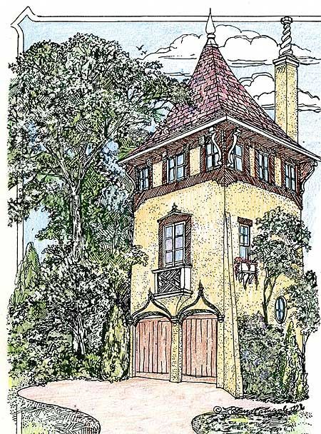 Plan 11601gc Romantic Carriage House Plan Carriage House Plans Castle House Plans Storybook Cottage