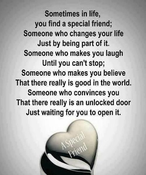 You Find A Special Friend Great Friendship Quote Quotescitati