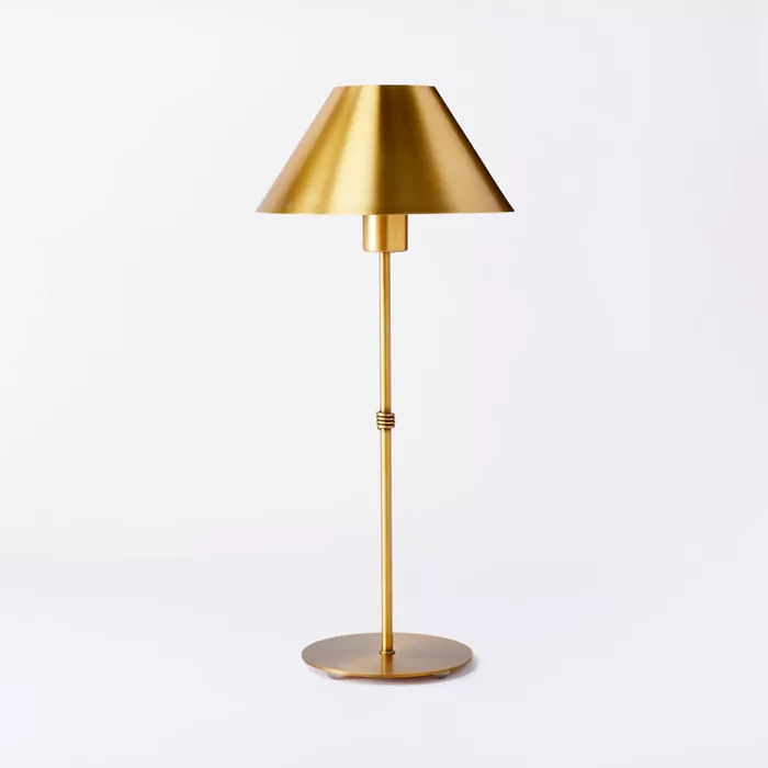 Buffet Stick Metal Table Lamp Includes Led Light Bulb Threshold Designed With Studio Mcgee Metal Table Lamps Table Lamp Lamp