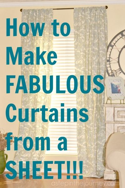Fabulous Curtains from a Twin Size Sheet! | Twin sheets, Twins and ...