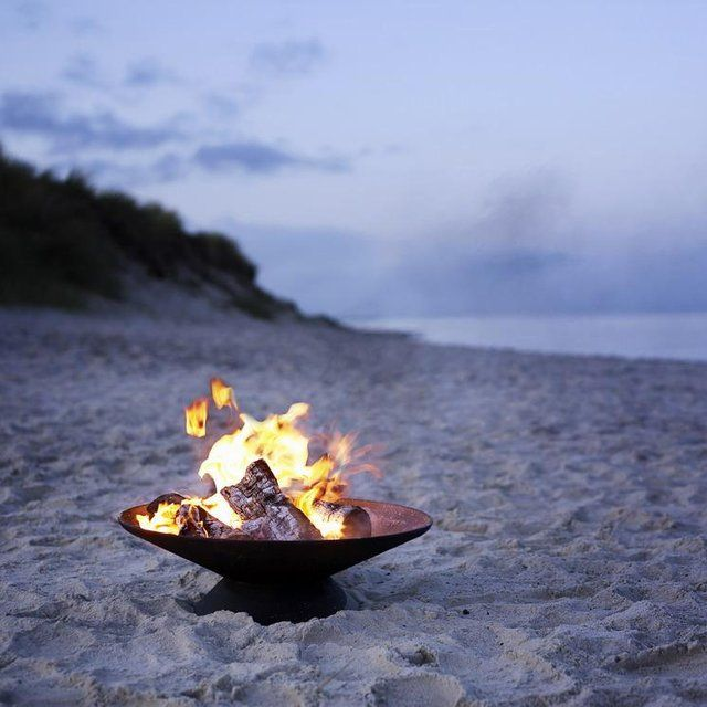 Great Little Firebowl For The Beach Portable Fireplacebeach Campingbeach Bonfirebackyard Beachfire Pitsdanish