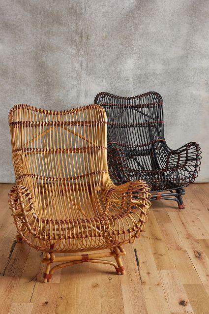 Susila rattan chair anthroregistry house pinterest sillas sillones y - Sillones rattan ...