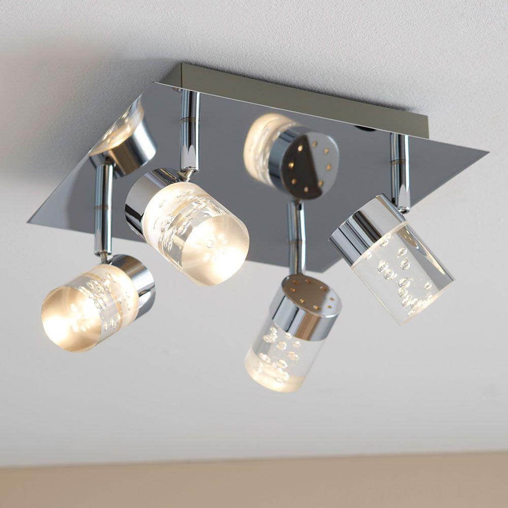 Wofi | Maar 806 Square Ceiling Light with 4 Spots | Spotlights ...