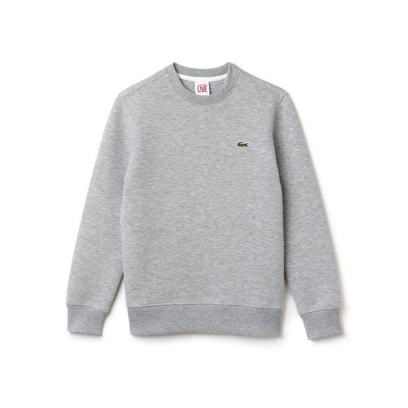 3b08db7335 Un style moderne et épuré pour ce confortable sweatshirt Lacoste Live. Un  essentiel au look mixte qui se porte avec tout.