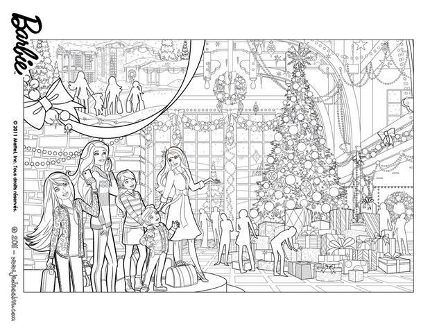 Coloriage Barbie Noel | Coloriage Enfants | Christmas coloring