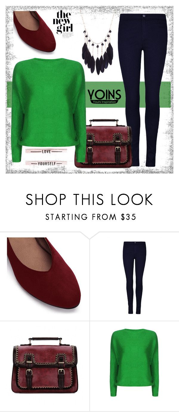 """YOINS - Green Sexy Pullover"" by samra-dzabija ❤ liked on Polyvore featuring yoins, yoinscollection and loveyoins"