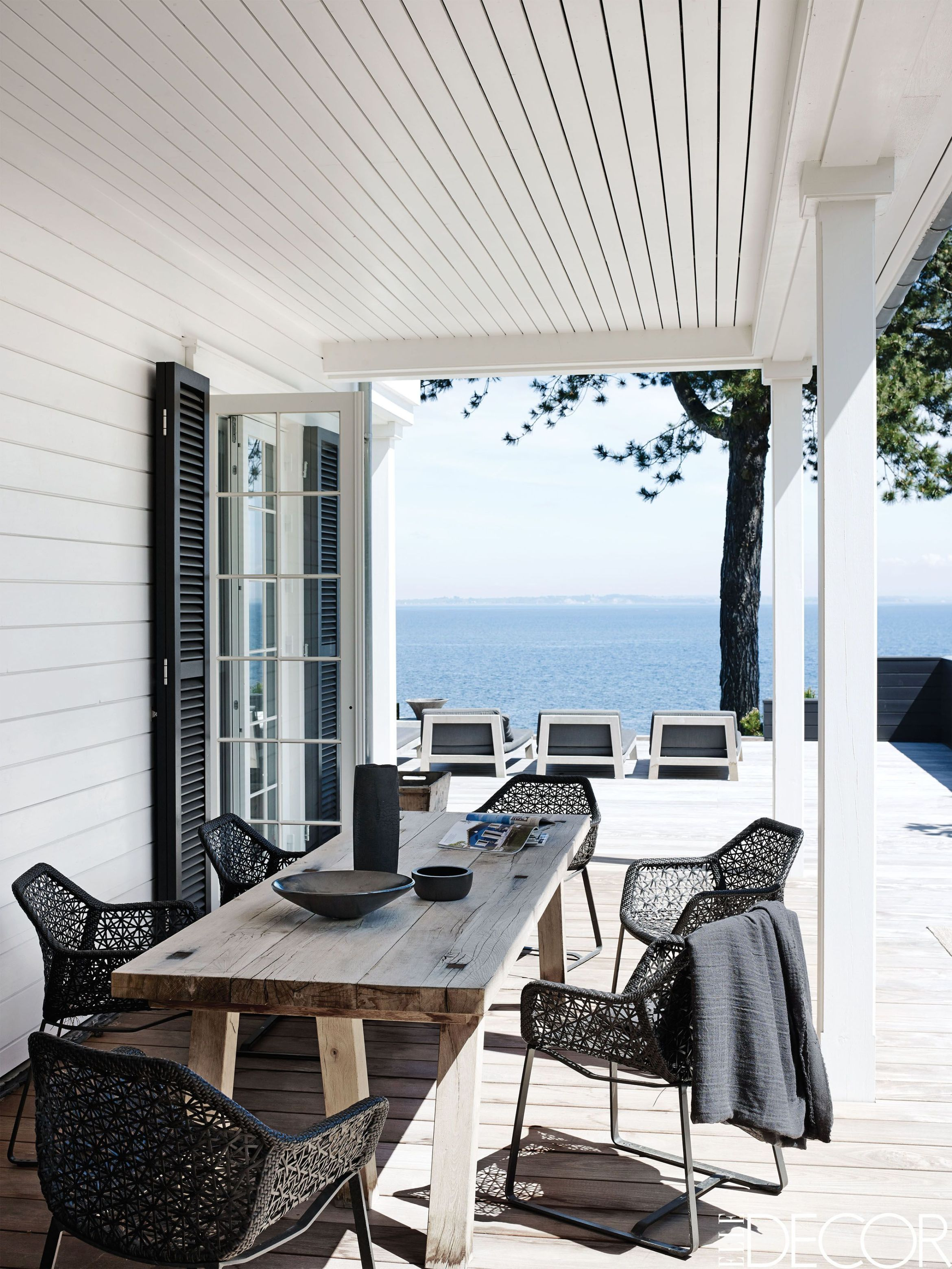 50 Long Outdoor Dining table Ideas - decoratio.co | Summer ...