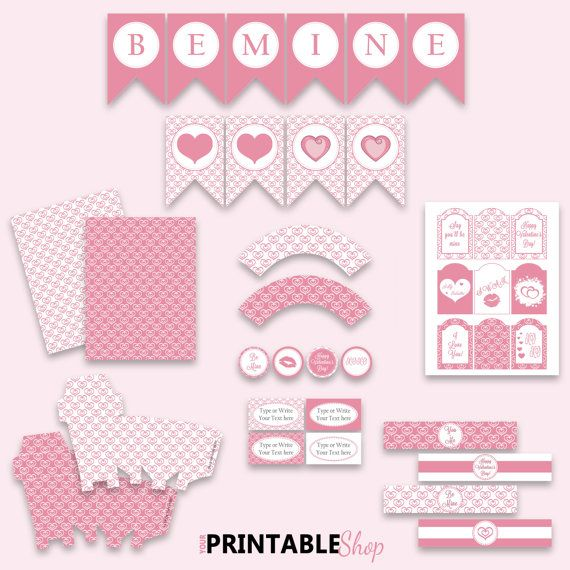 INSTANT DOWNLOAD Printable Valentine's Party by YourPrintableShop