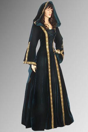 Velvet renaissance gown...I'll take one in each color please.