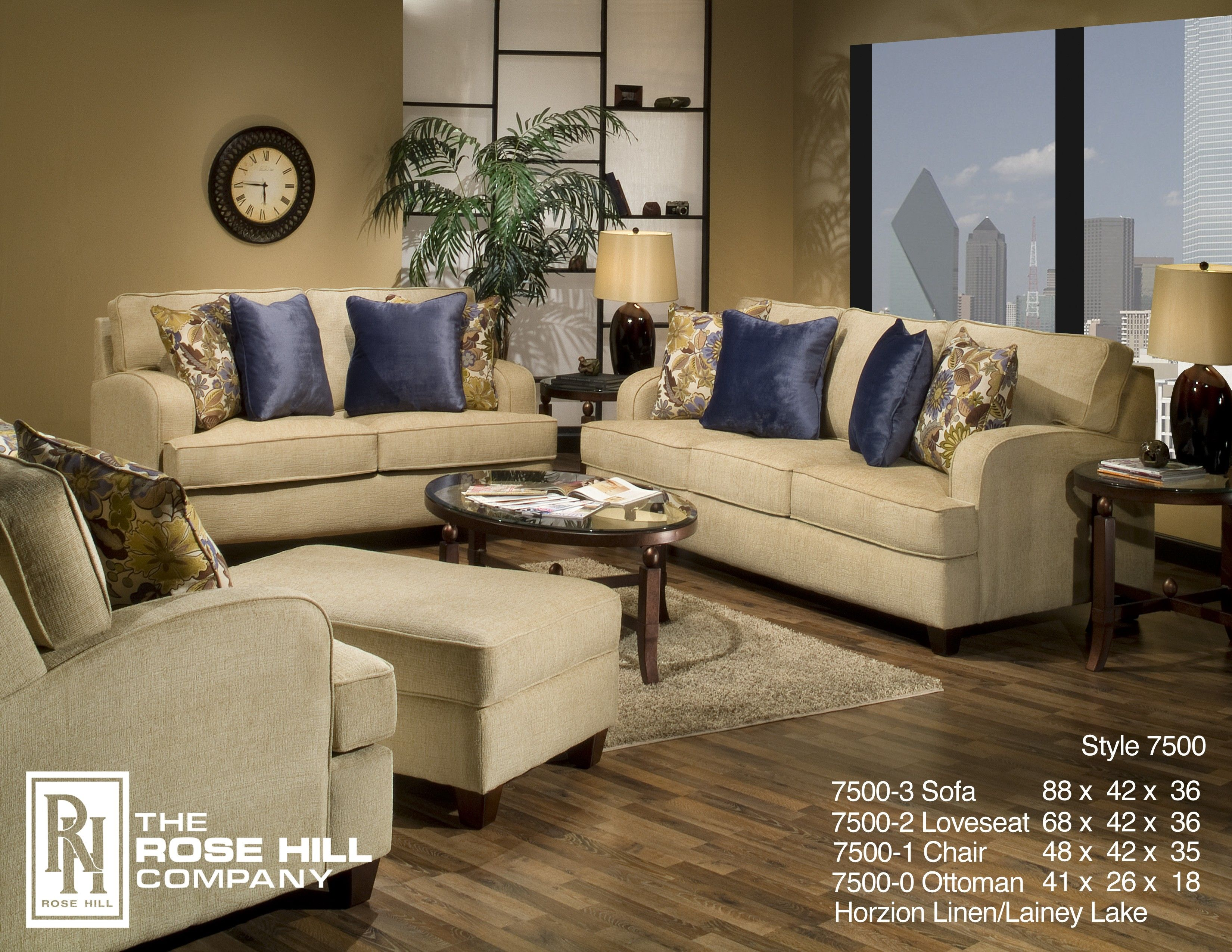 Rose Hill Furniture Horizon Linen Complete Living Room Set    7500 0 1 2 3(4140 10), Price: $2,249.00 | Comfortable Living | Pinterest |  Burlap Living Rooms, ...