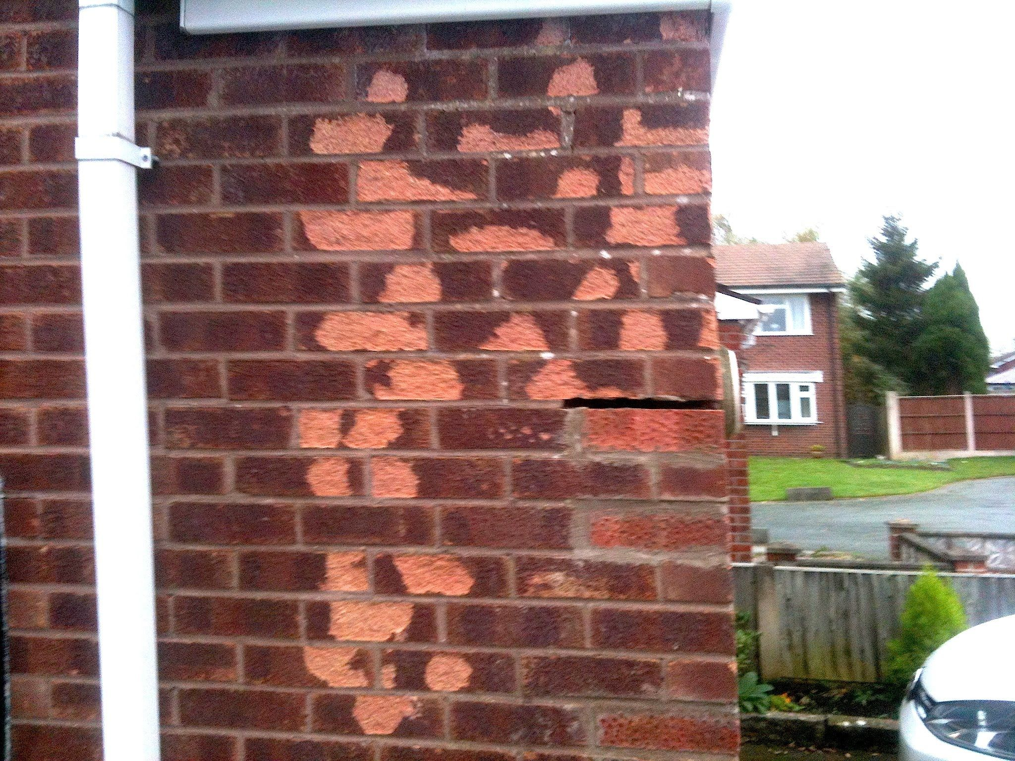 How To Replace Frost Damaged Bricks Brick Repair Brick New Homes