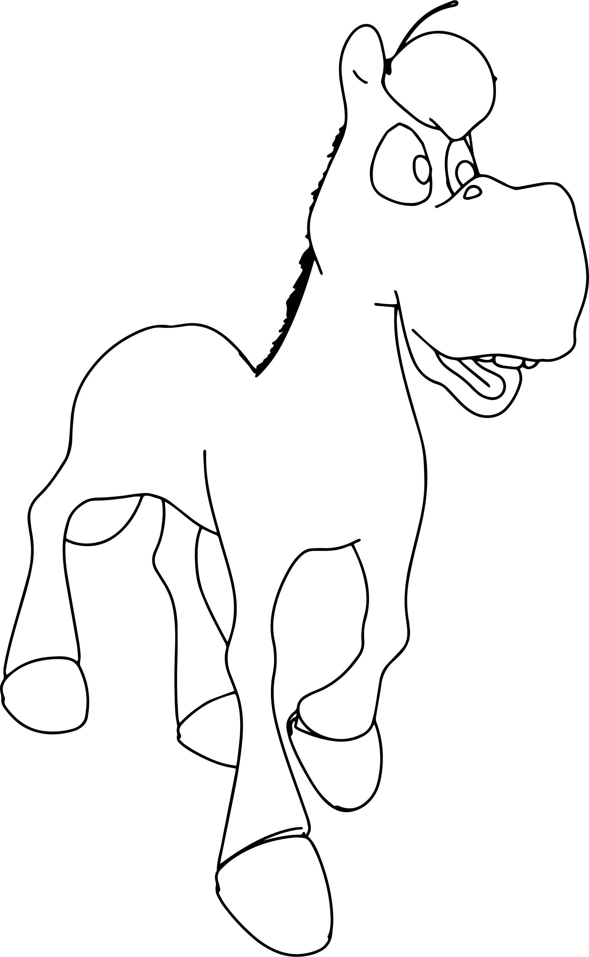Nice Walking Cartoon Horse Coloring Page Horse Coloring Pages Horse Coloring Walking Cartoon