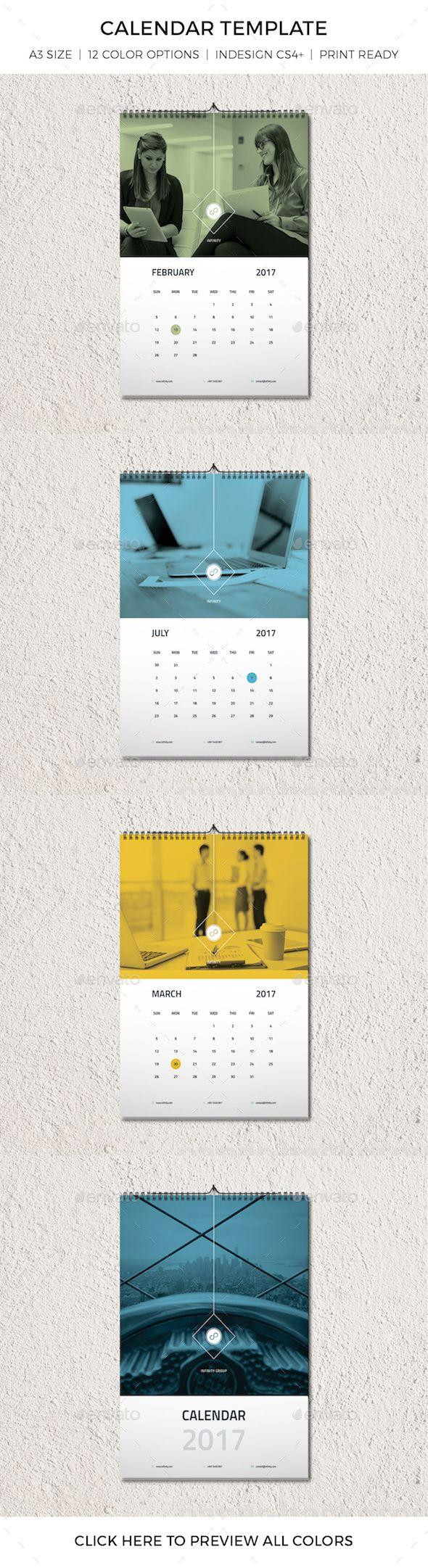 Modern Minimal Calendar Template | Pinterest