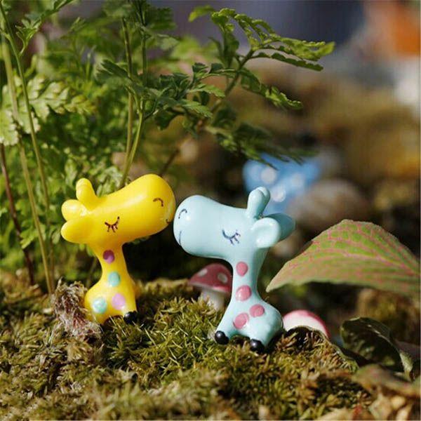 Mini jirafa linda micro jardín decoraciones paisaje ornamento