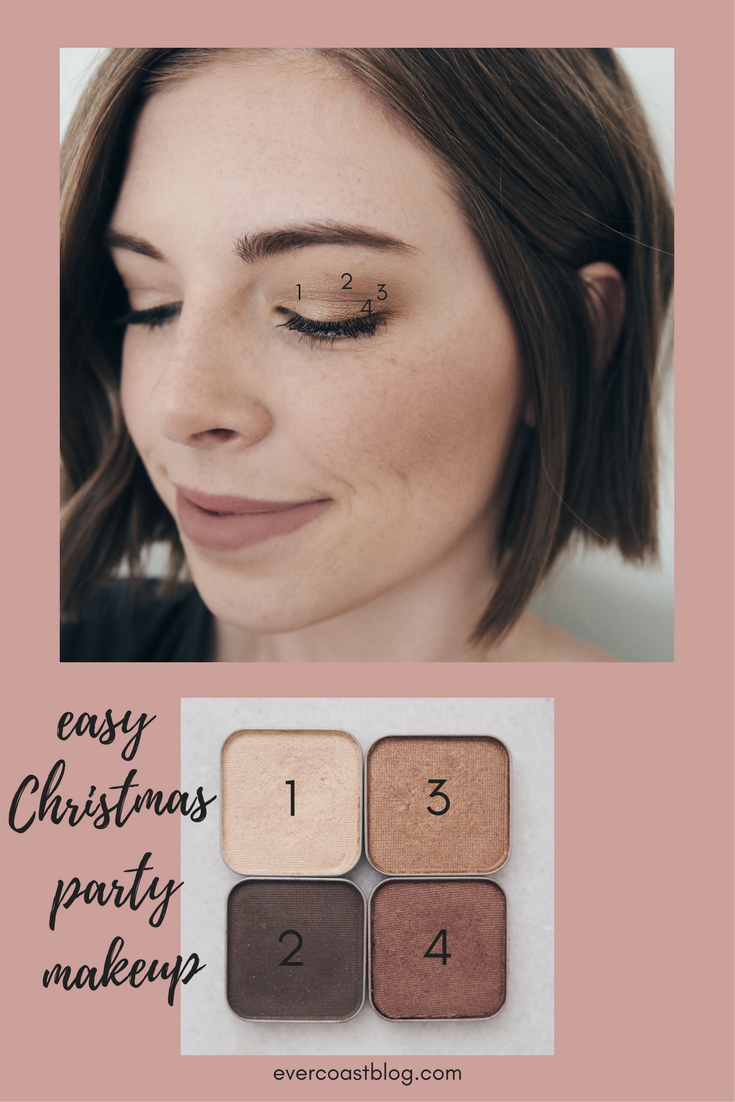 Easy Christmas Party Makeup Makeup Look Simple Makeup Natural Makeup Maskcara Beauty Makscara Eyshadows Sabrina Trust Bright Eyes Gilded Party Makeup ...