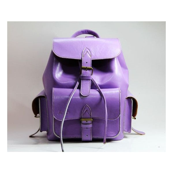 Leather Backpack / School Backpack in Violet D022 (9,285 PHP ...