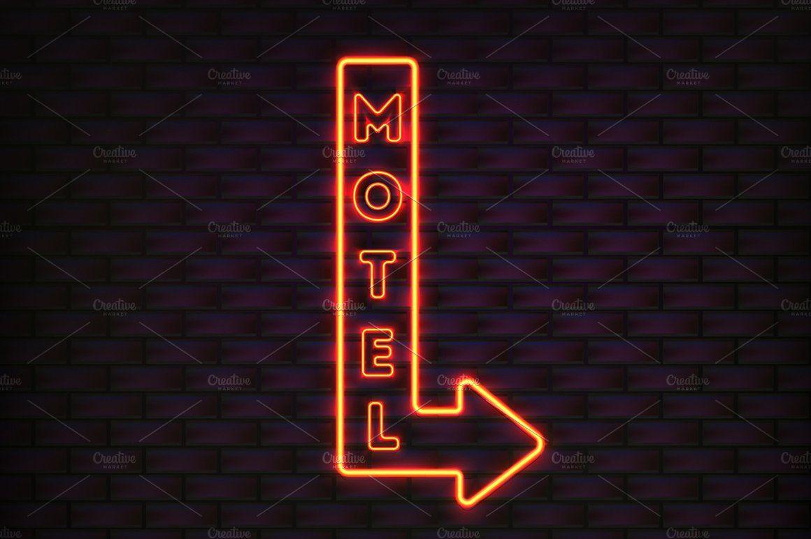 Neon Vector Signs setneonsignsSuper Neon signs, Neon