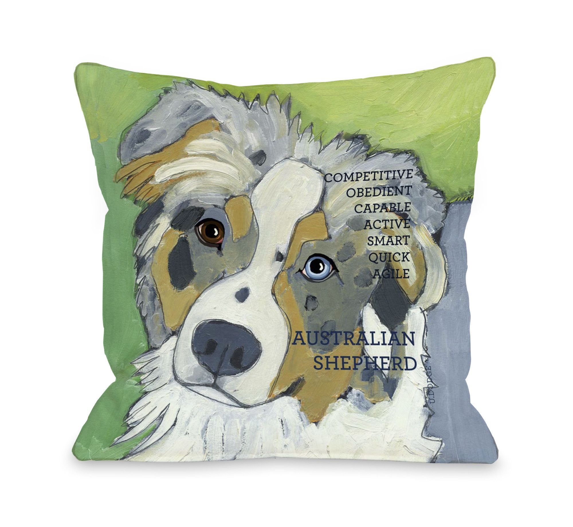 Australian Sheep Dog 1 Throw Pillow by Ursula Dodge | Products ...