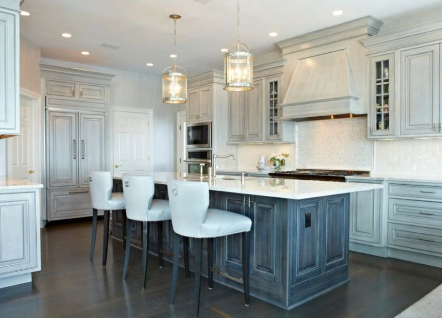 White Washed Kitchen Cabinets With Chair And Wood Flooring Modern Chandelier Marvelous Black Wash 3 Sickchic