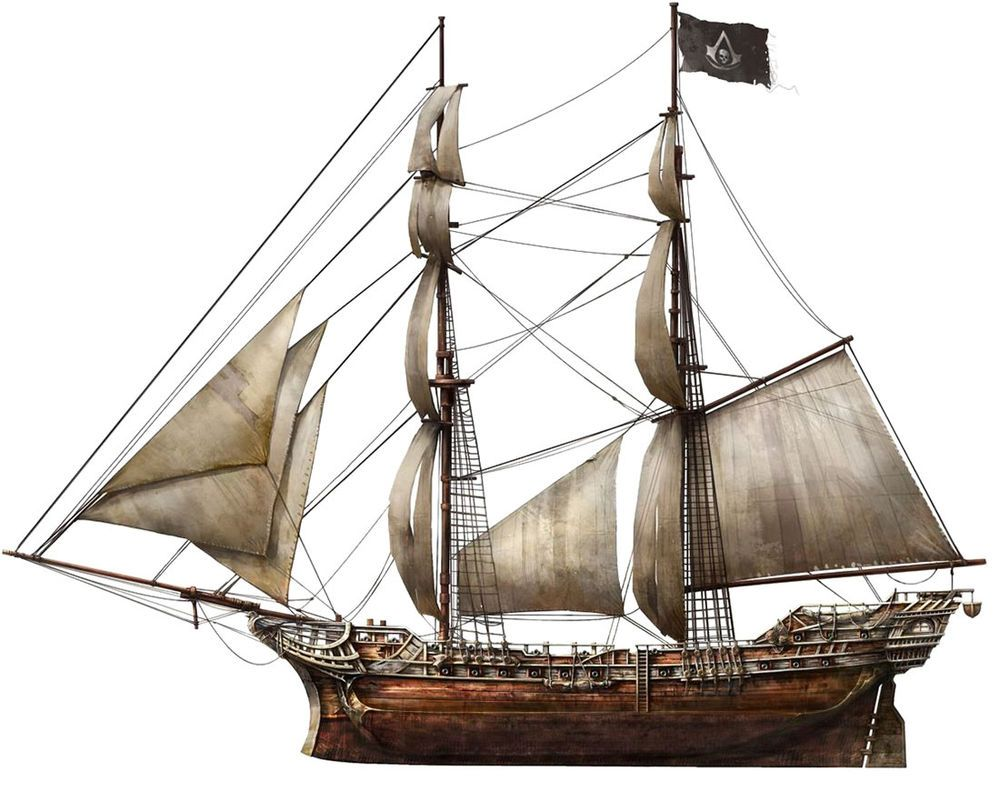 Jackdaw Assassin S Creed Wiki Fandom Powered By Wikia Ship Paintings Pirate Ship Art Pirate Ship