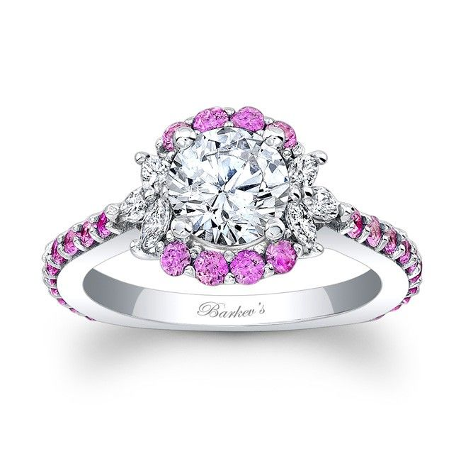 Barkev's Pink Sapphire Engagement Ring 7930LPS