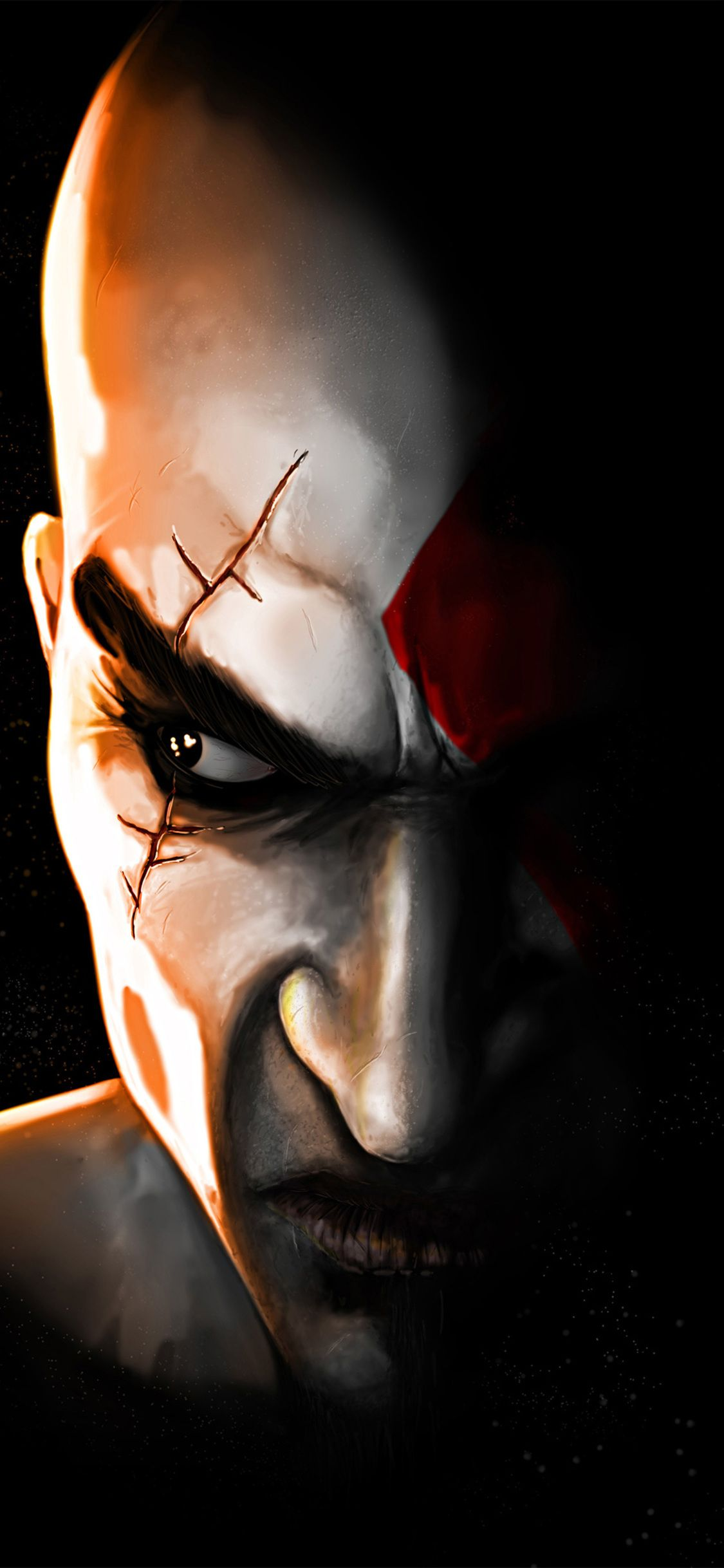 Desktophdwallpaper Org Phone Wallpaper Images Kratos God Of War Phone Wallpaper