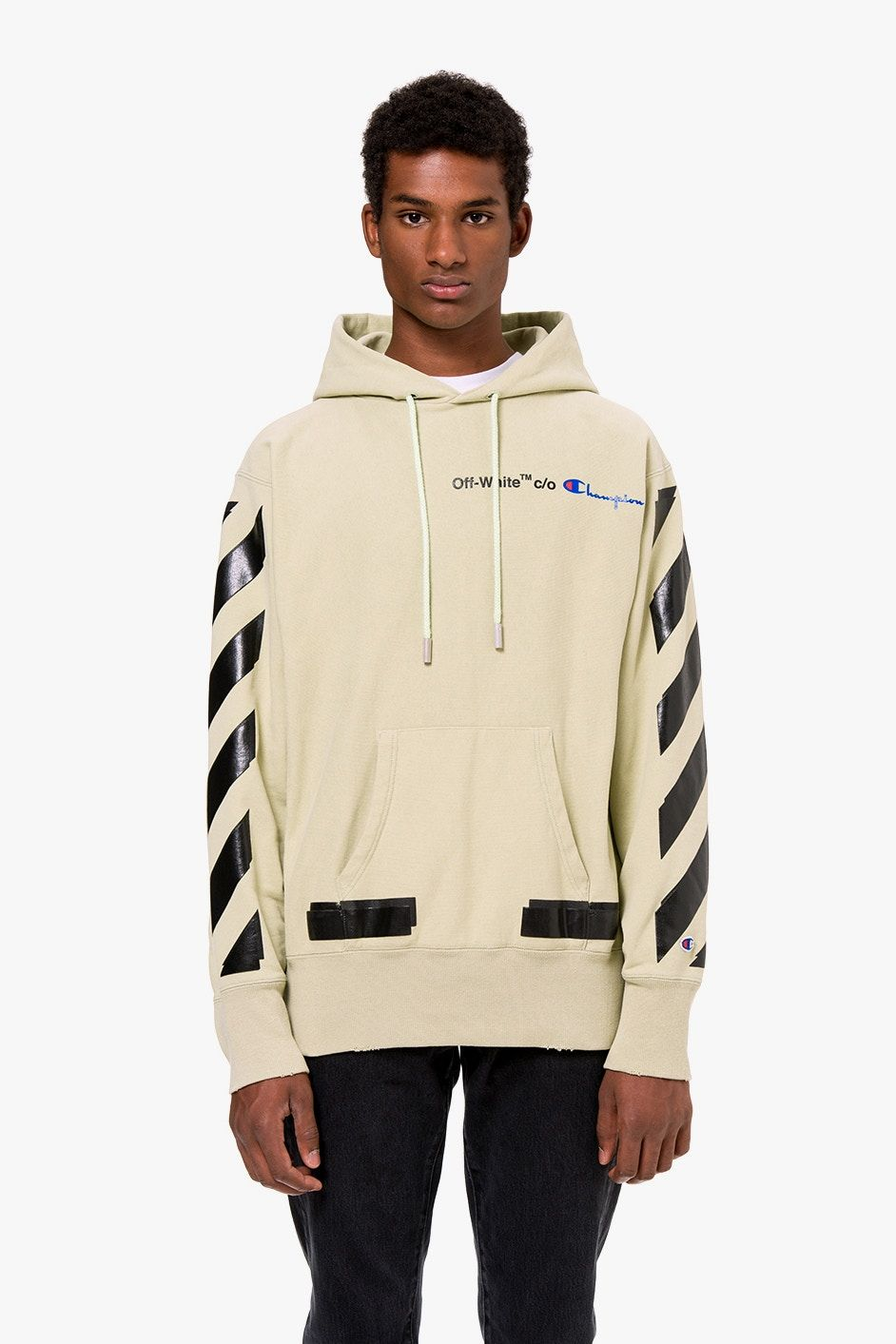 Off White X Champion Is Now Available Online Mens Fashion Summer Champion Clothing Mens Champion Clothing