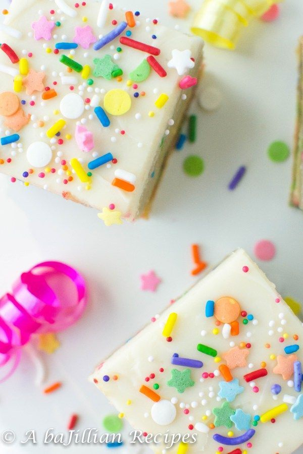 Birthday Cake Oreo Truffle Blondies A baJillian Recipes Sprinkle