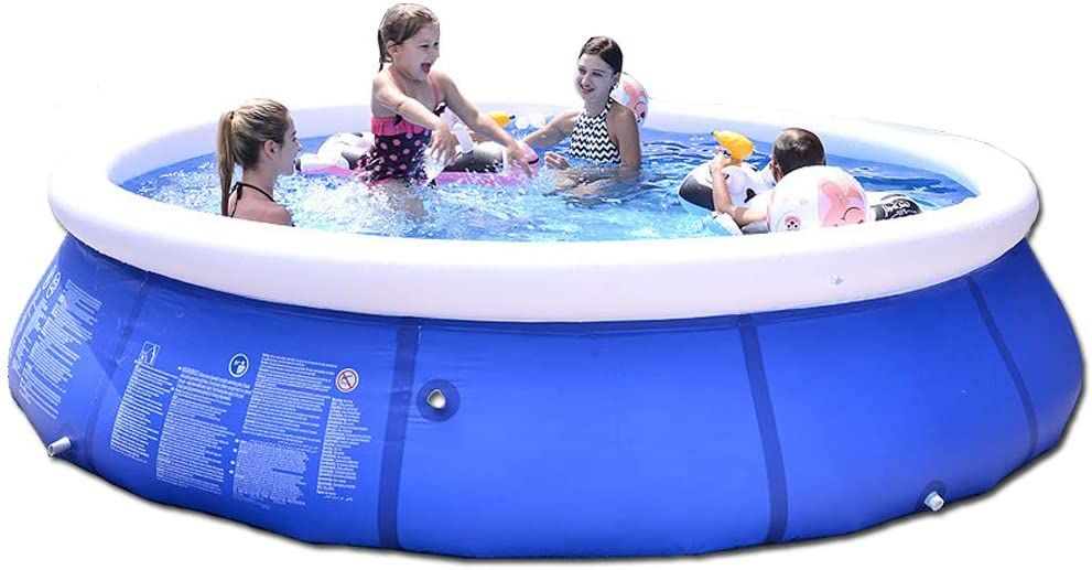 Zfcgee Inflatable Pool For Kids And Adults Above Ground Swimming Pool Easy Set Blow Up Pools Blow Up Pool Inflatable Swimming Pool Swimming Pools