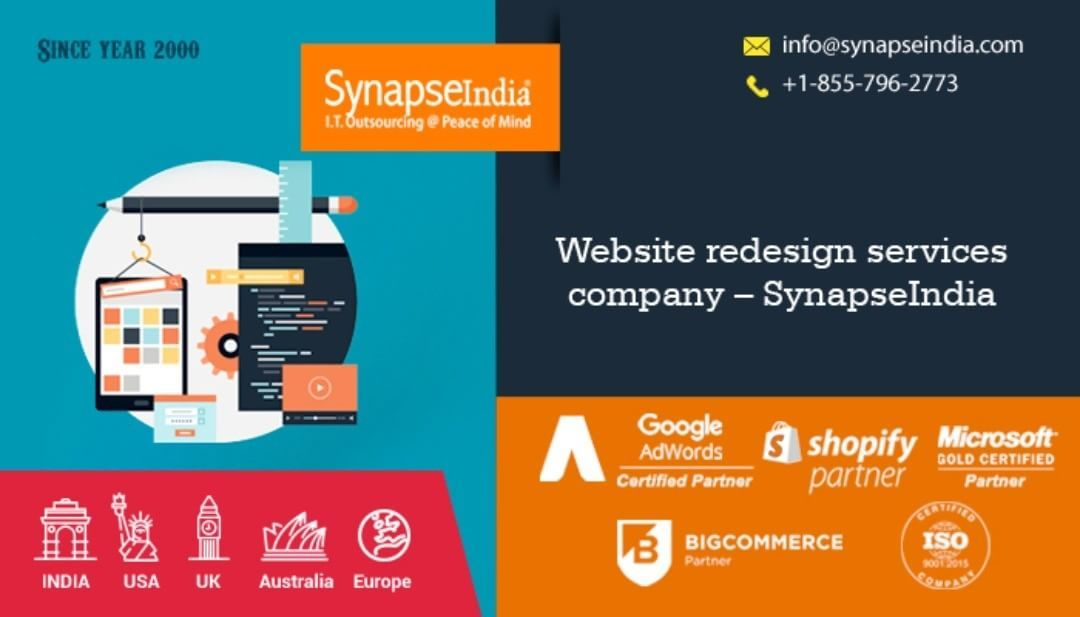 Website redesign services company, SynapseIndia, helps clients in