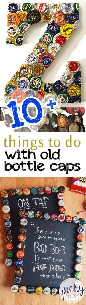 10 Things To Do With Old Bottle Caps Bottle Cap Crafts How To