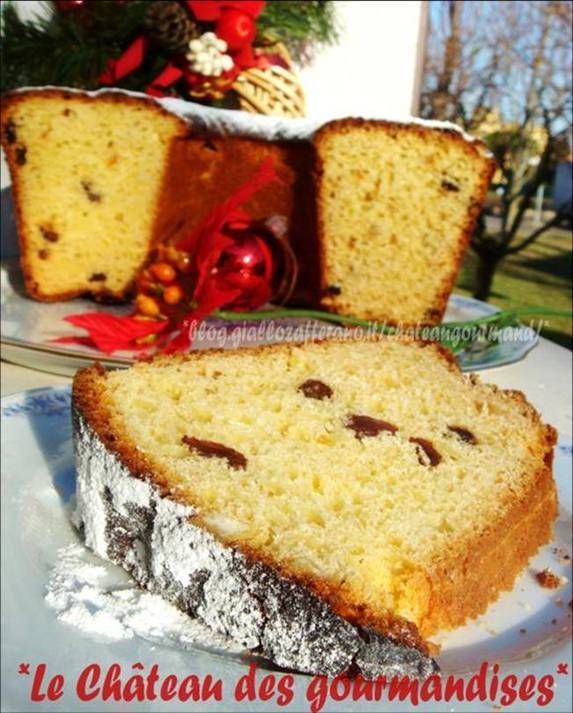 Crescia di Pasqua - Typical Italian Easter cake with currant and candied fruits