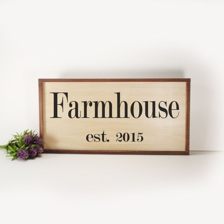Farmhouse Framed Hand Painted Wood Sign Made From Reclaimed Wood Rustic Farmhouse Decor Home Decor Kitchen Decor Country Decor