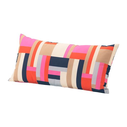 Ikea GrenÖ Cushion Outdoor Multicolour 59x30 Cm You Can Add Extra Comfort To Your Garden Sofa Or Chair By Using This As A Lumbar Support