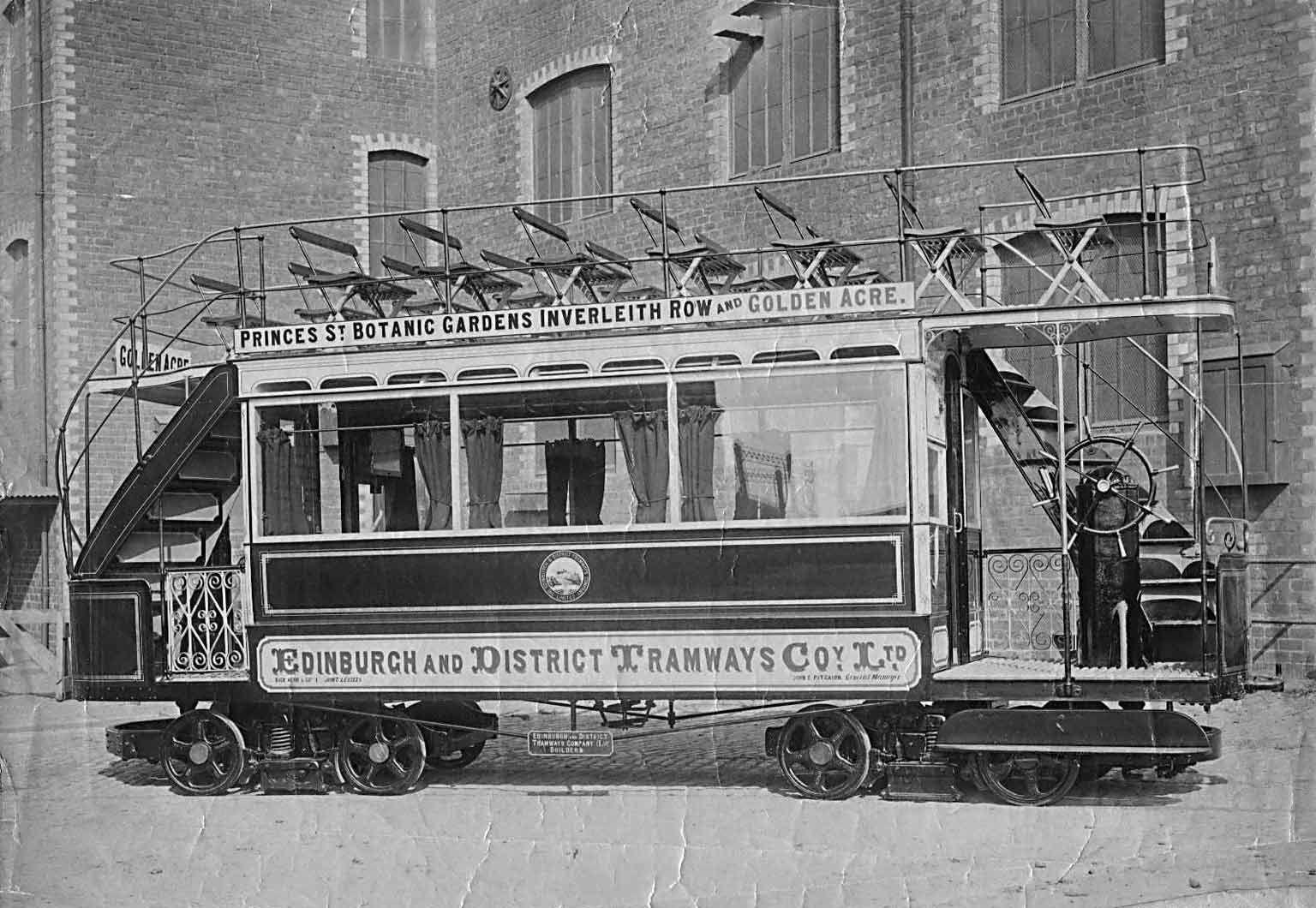 The First Tram Car In Edinburgh