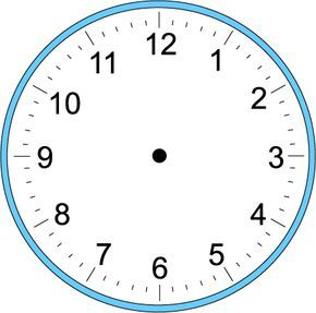 large blank clock template handwriting for kids math time craft clock make your own. Black Bedroom Furniture Sets. Home Design Ideas