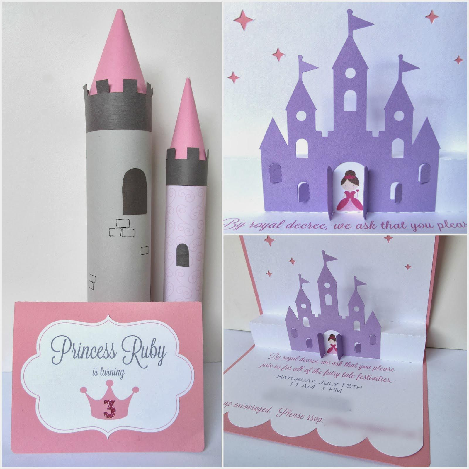 Homemade Princess Party Invitations | Disney princess | Pinterest ...