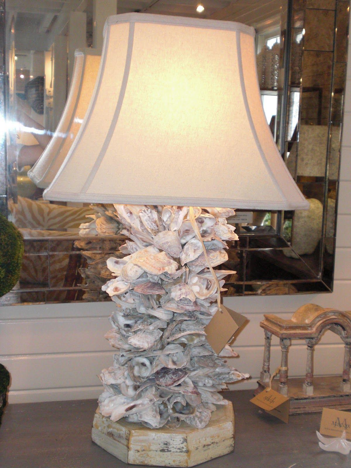 Shell Art Is Over Portlandia Shell Lamp Oyster Shells Decor Shell Decor