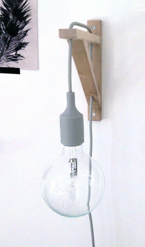 Mooie Simpele Lamp Door Tikje Doe Het Zelf Wanddecoraties Diy Lamp Doe Het Zelf Lamp