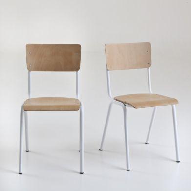 Chaises empilables style écolier, Hiba (lot de 2), La Redoute