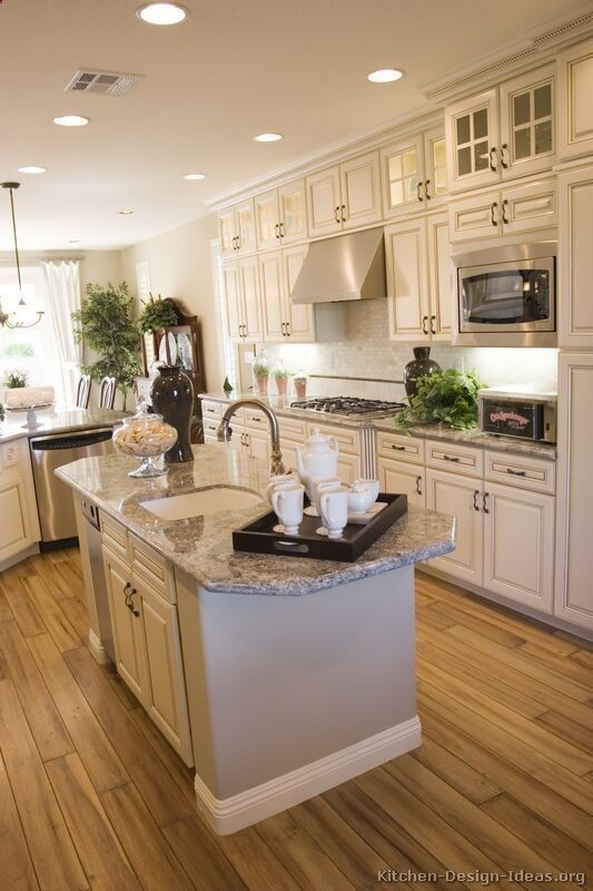 Beautiful White Kitchen Designs Beauteous Traditional Antique White Kitchen Cabinets  Home  Pinterest Review