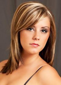 Причёски на редкие волосы средней длины с чёлкой фото